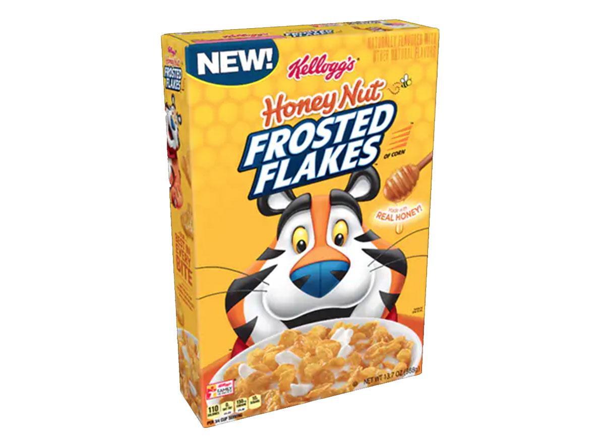 kellogs honey nut frosted flakes box