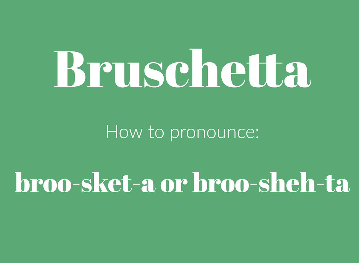 how to pronounce bruschetta graphic