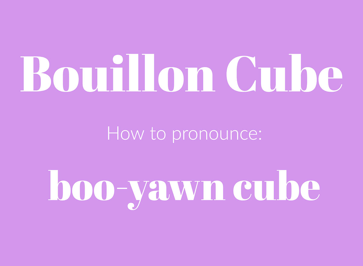 how to pronounce buillion cube graphic