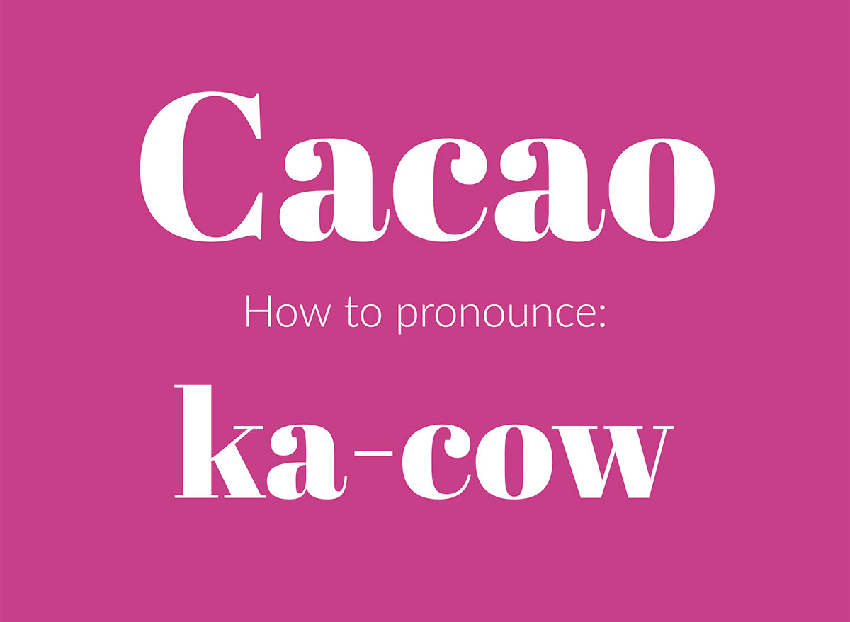 how to pronounce cacao graphic