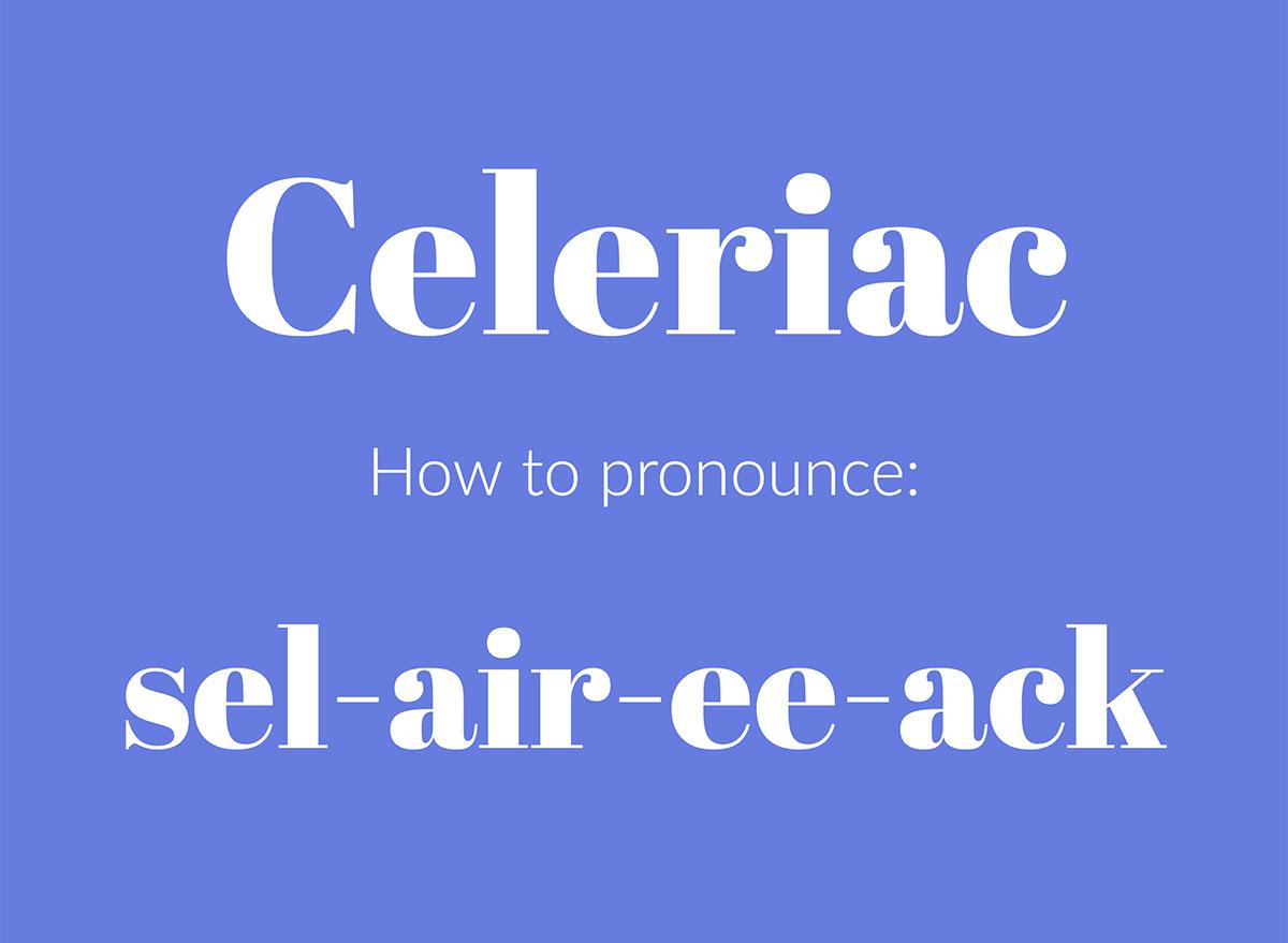 how to pronounce celeriac graphic