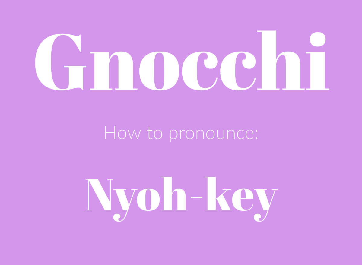 how to pronounce gnocchi graphic