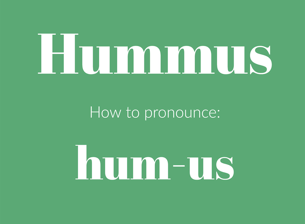 how to pronounce hummus graphic