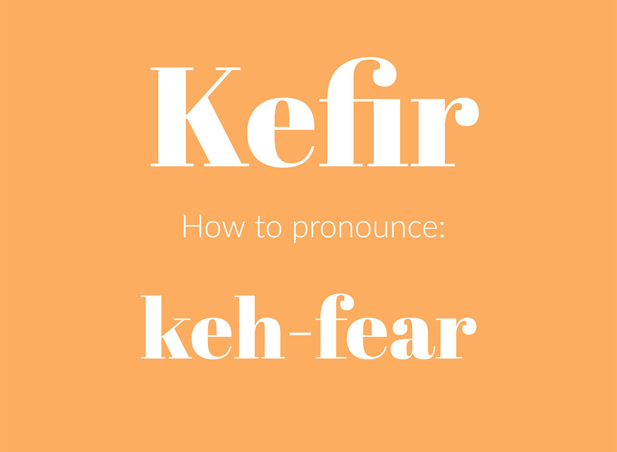 how to pronounce kefir graphic