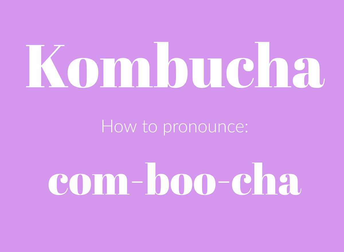 how to pronounce kombucha graphic