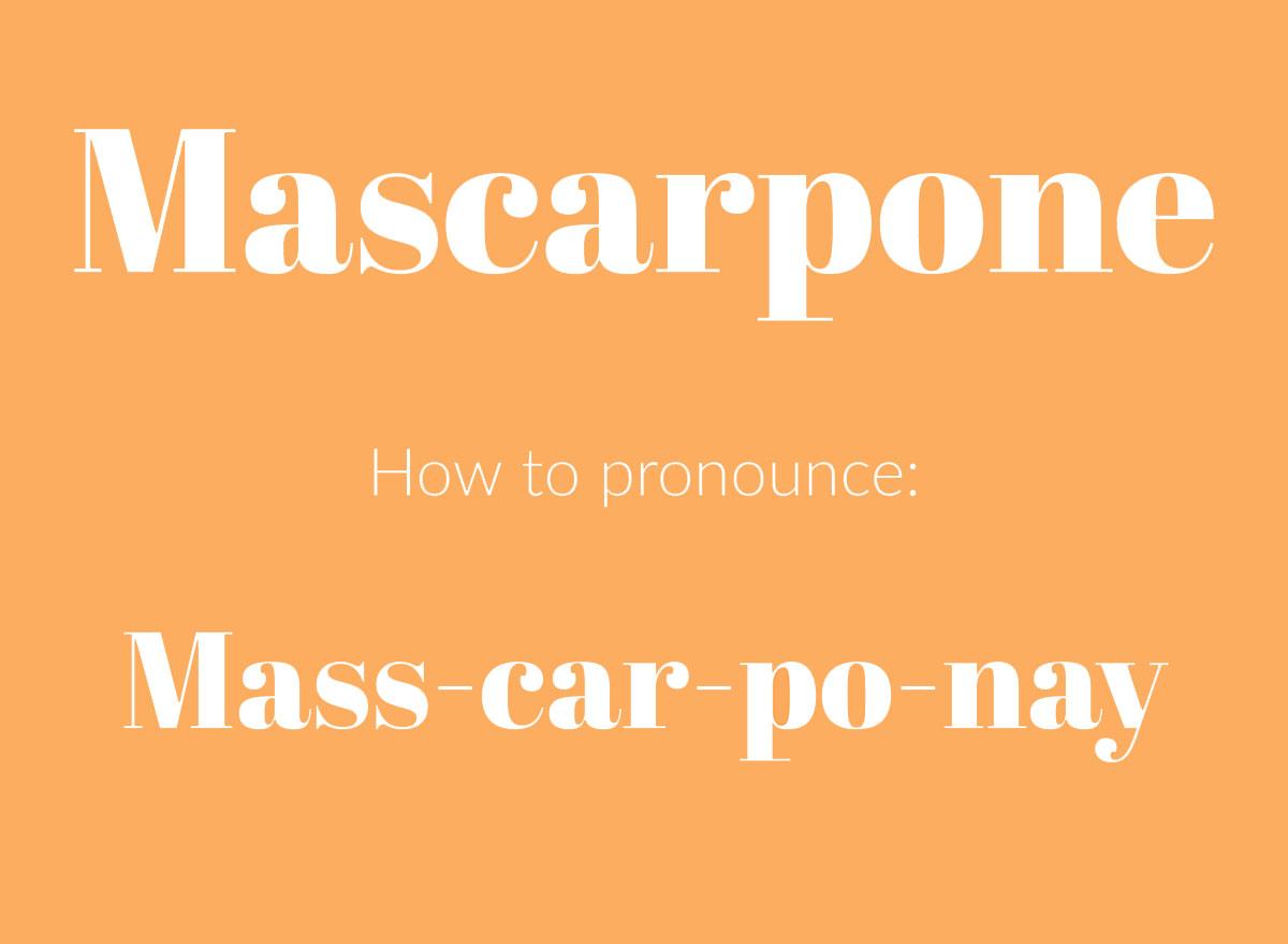 how to pronounce mascarpone graphic