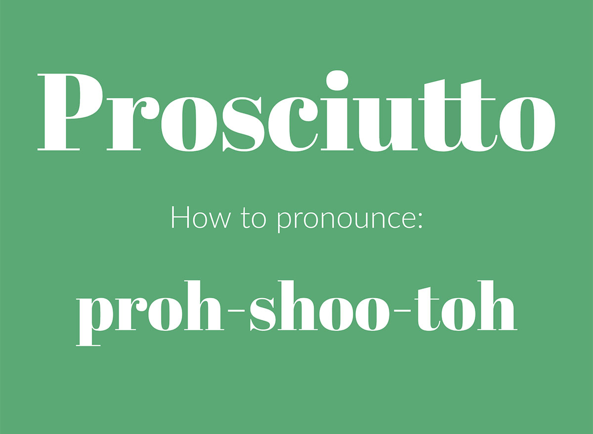 how to pronounce prosciutto graphic