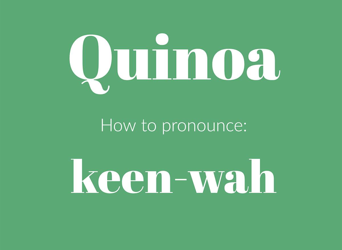 how to pronounce quinoa graphic