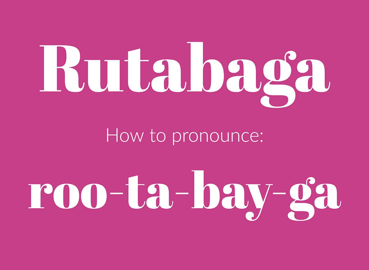 how to pronounce rutabaga graphic