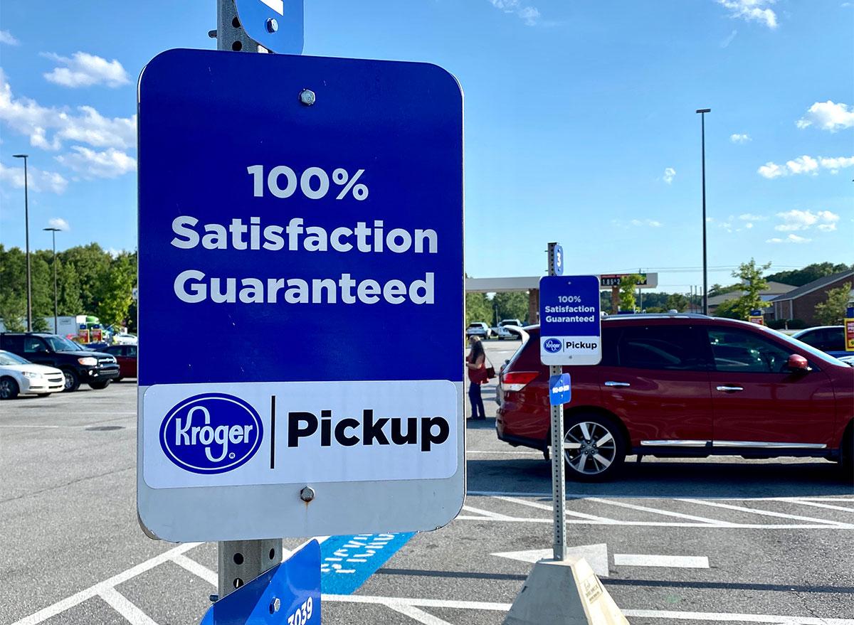sign for kroger order pickup