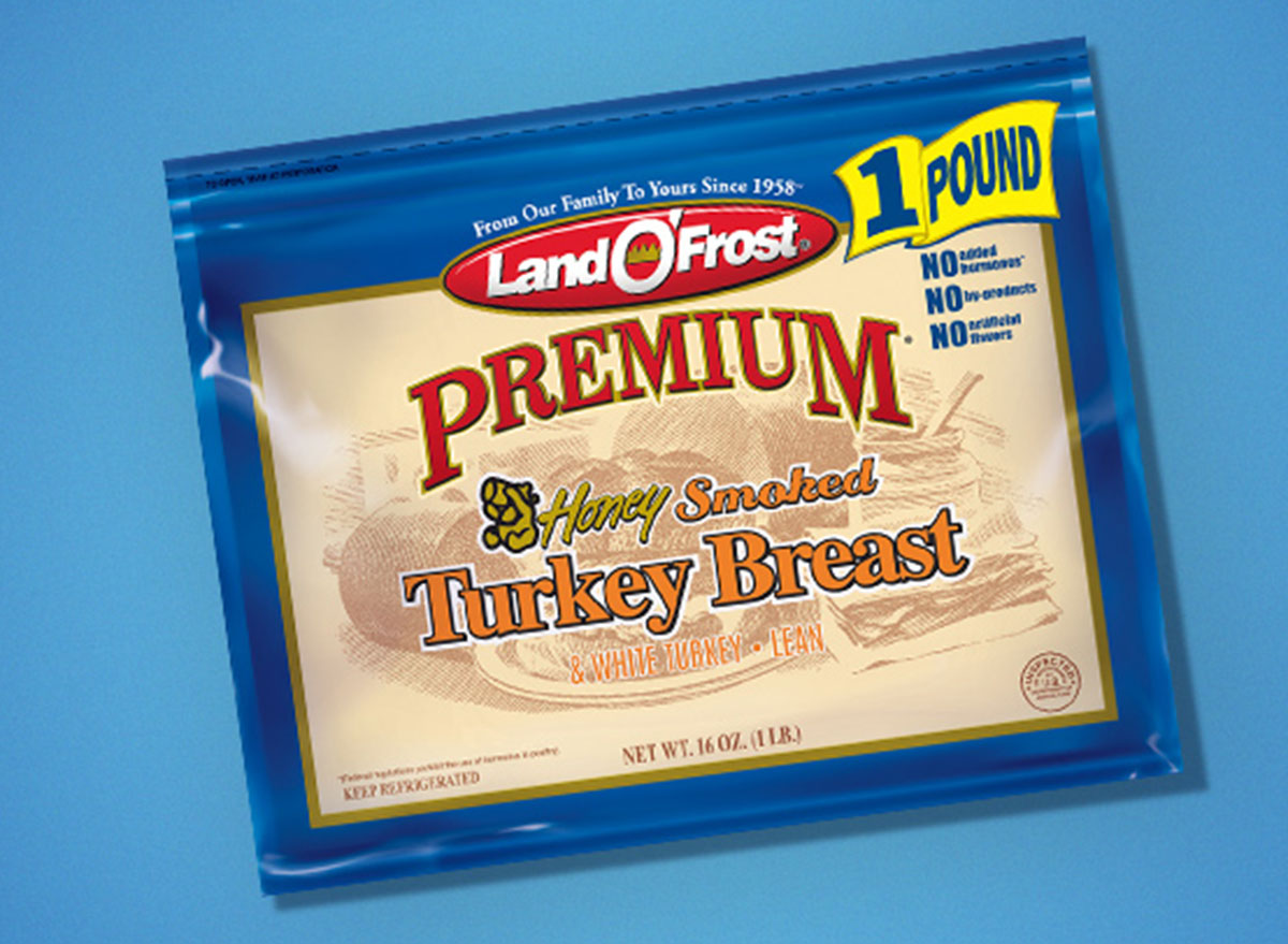 packaged land o'frost premium honey smoked turkey breast