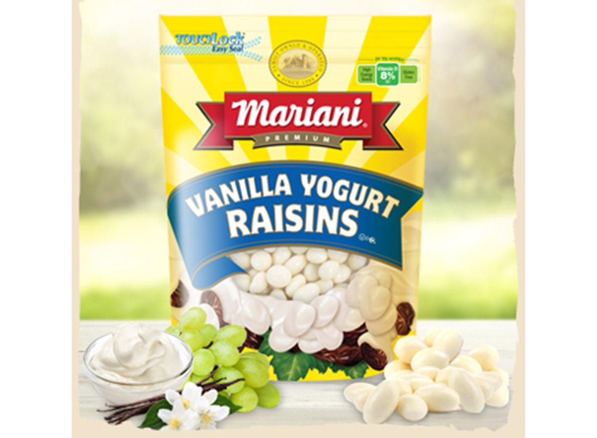 mariani vanilla flavored yogurt raisins