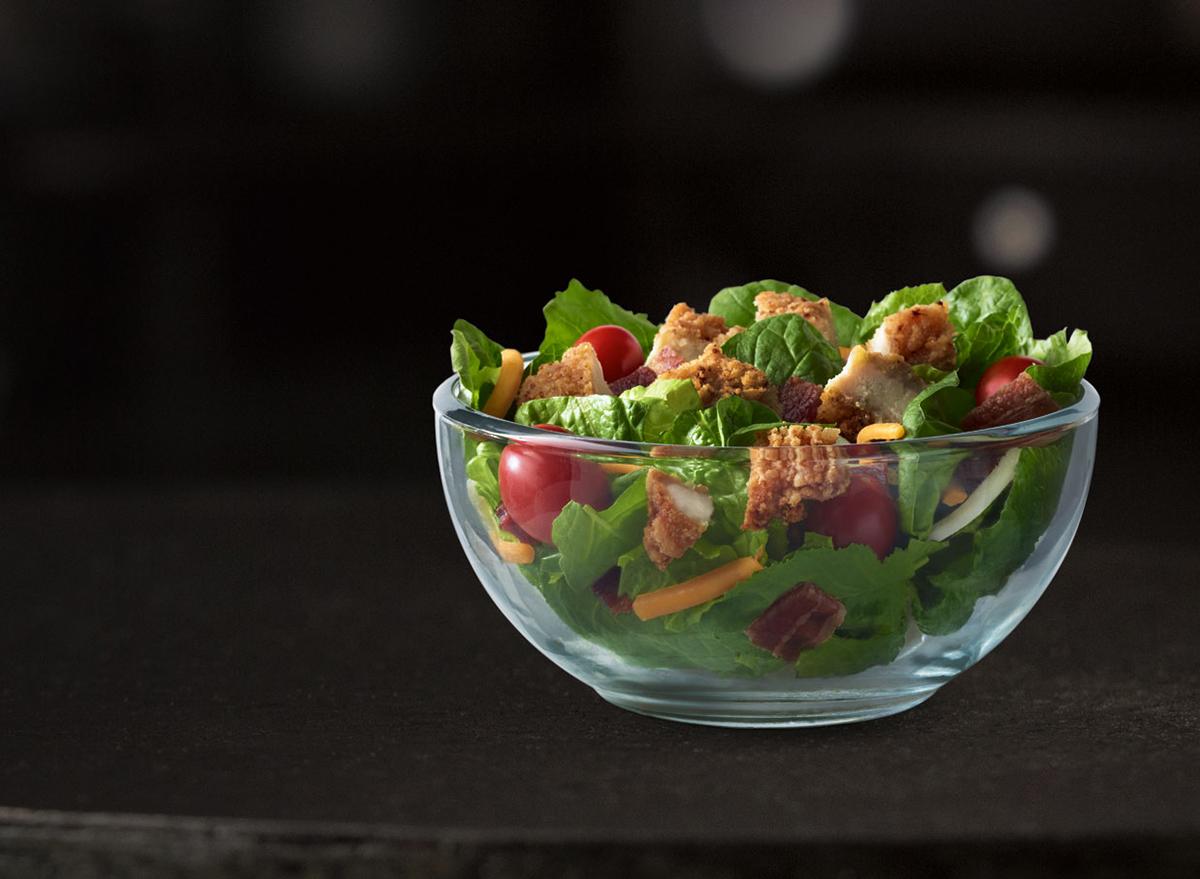 Bacon Ranch Salad with Buttermilk Crispy Chicken