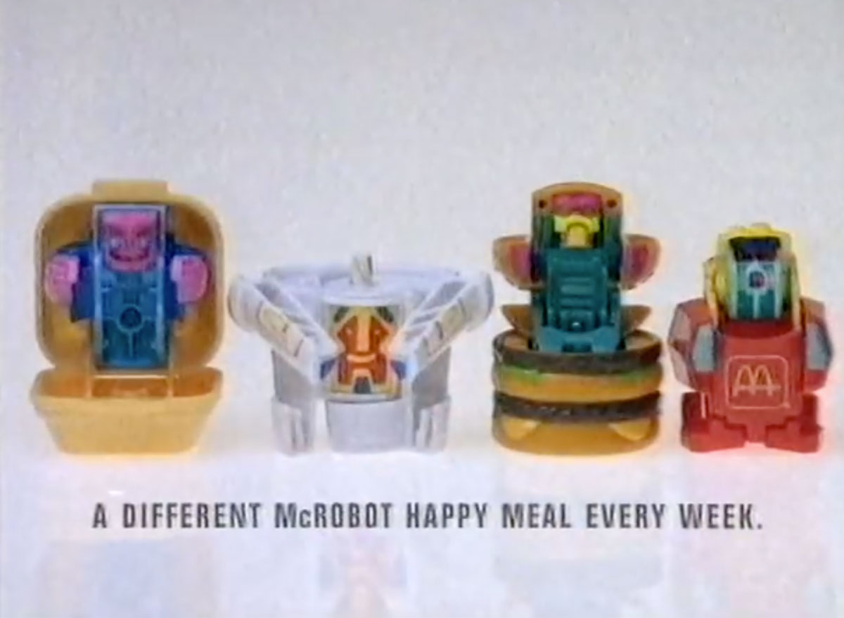 Mcdonalds changeables mcrobots happy meal toy 1980s