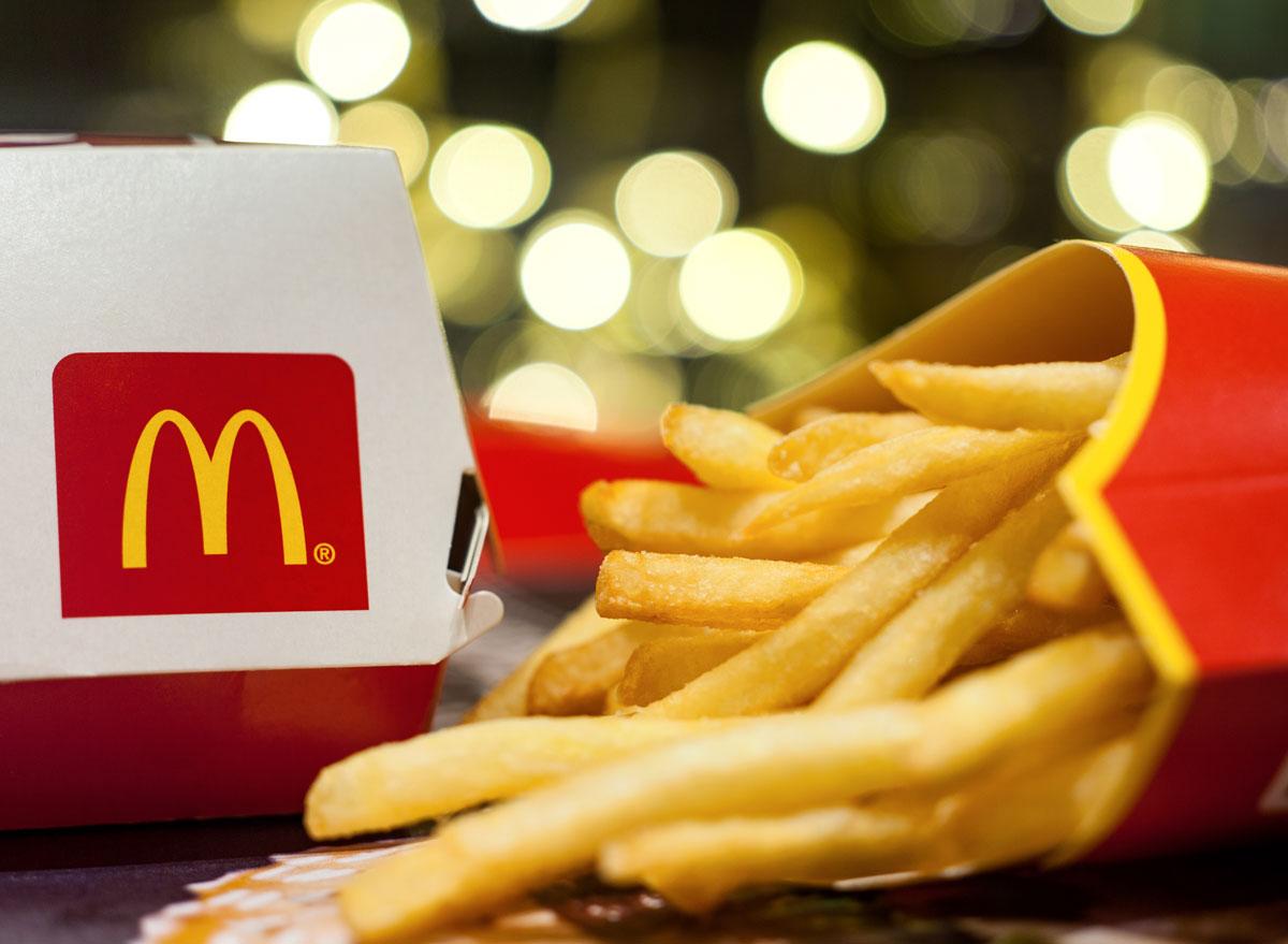 mcdonald's food fries lights