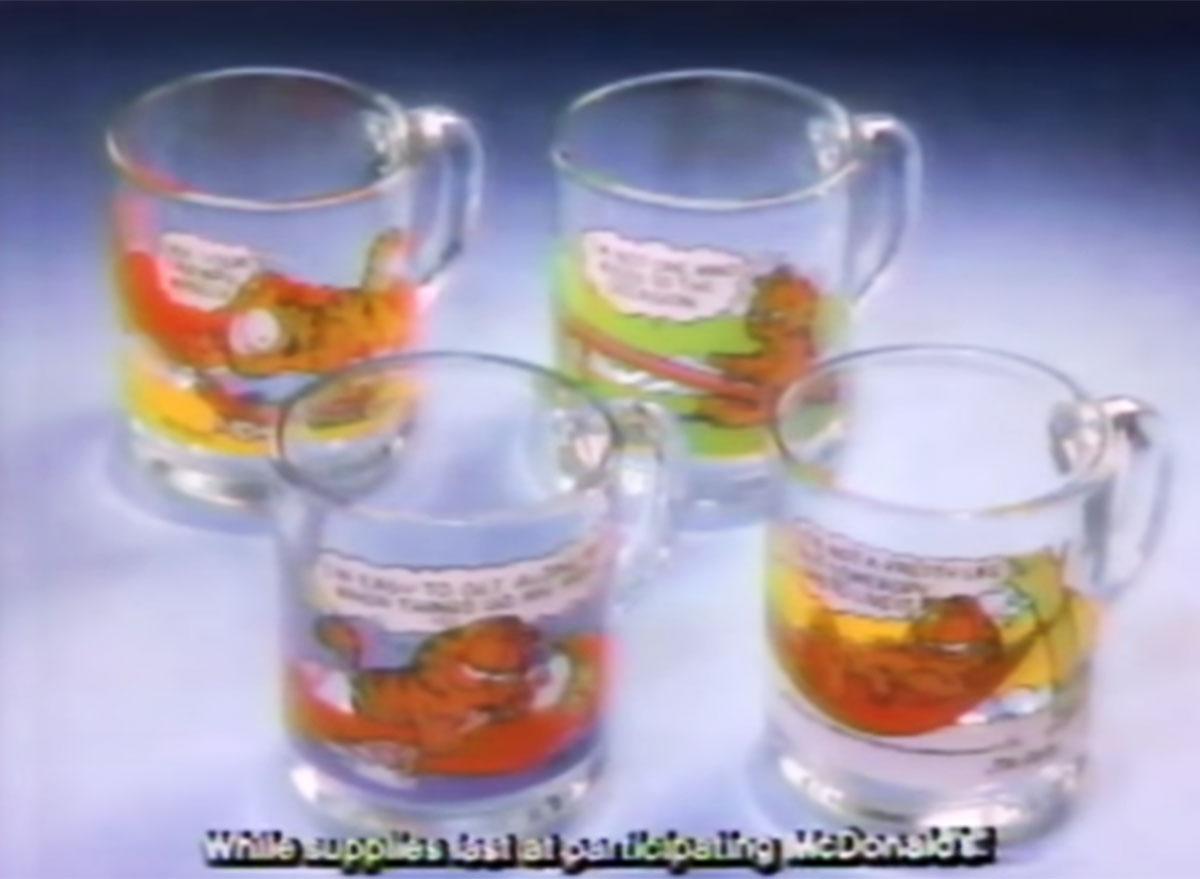 Garfield mugs mcdonalds