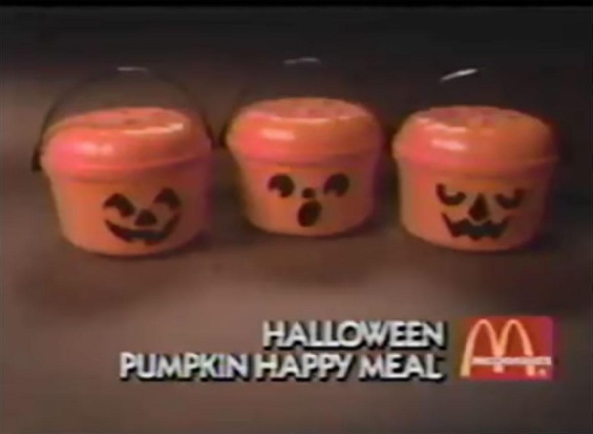 Mcdonalds halloween pumpkin happy meal toys 1986