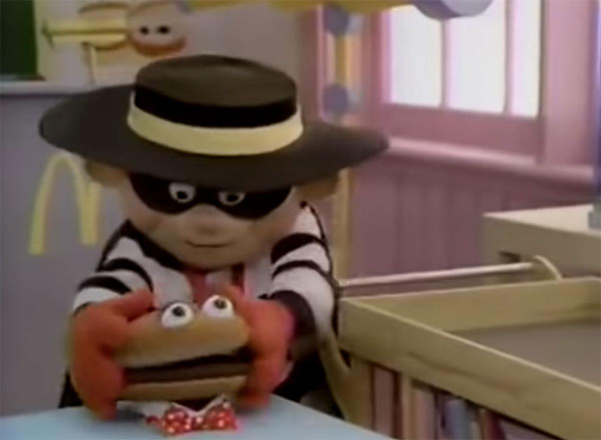 Mcdonalds hamburglar in the 1980s