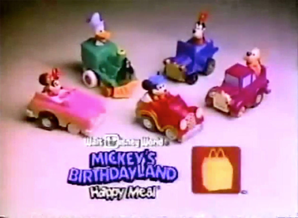 Mickey mouse birthday land disney birthday at mcdonalds happy meal toy