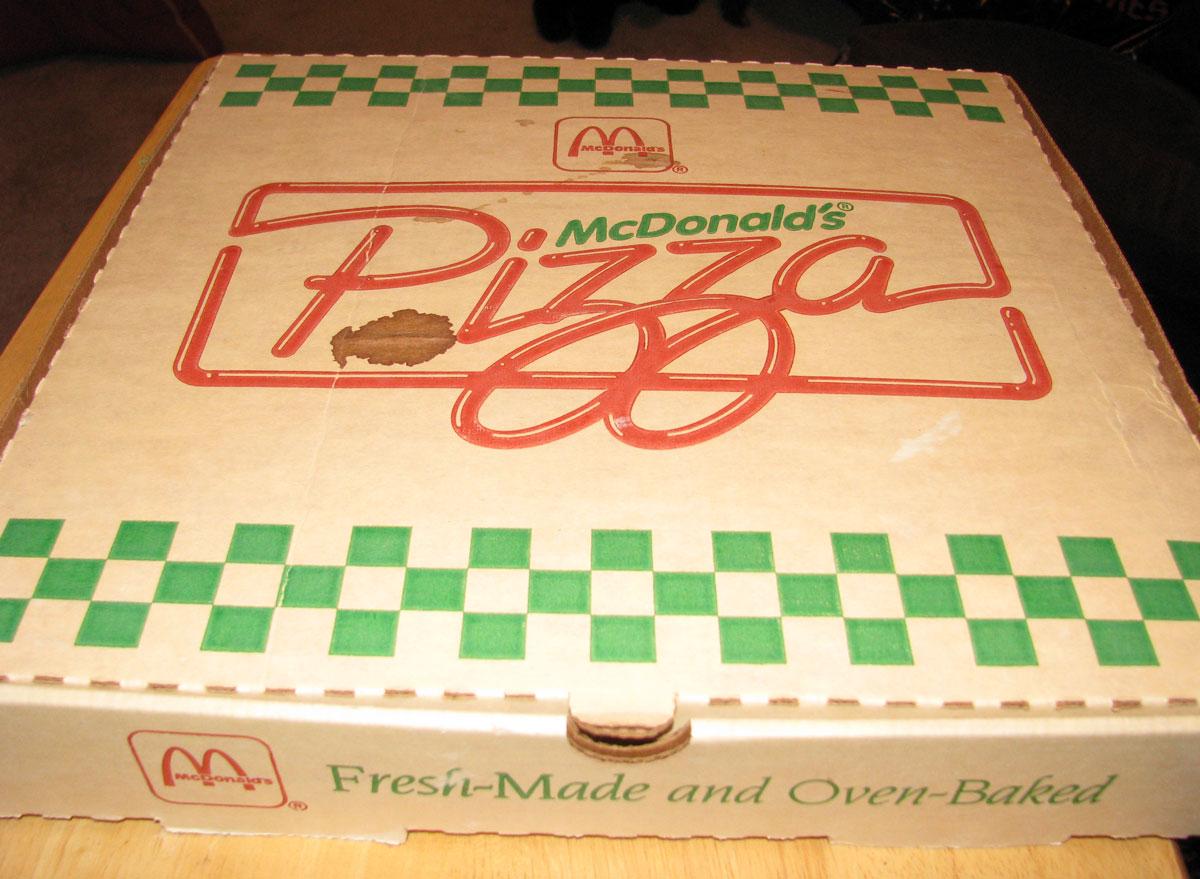 Mcdonalds pizza box from 1989