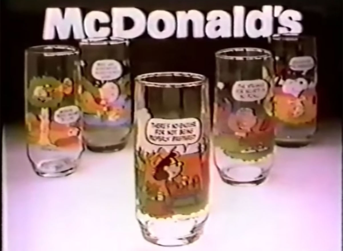 Mcdonalds snoopy glasses