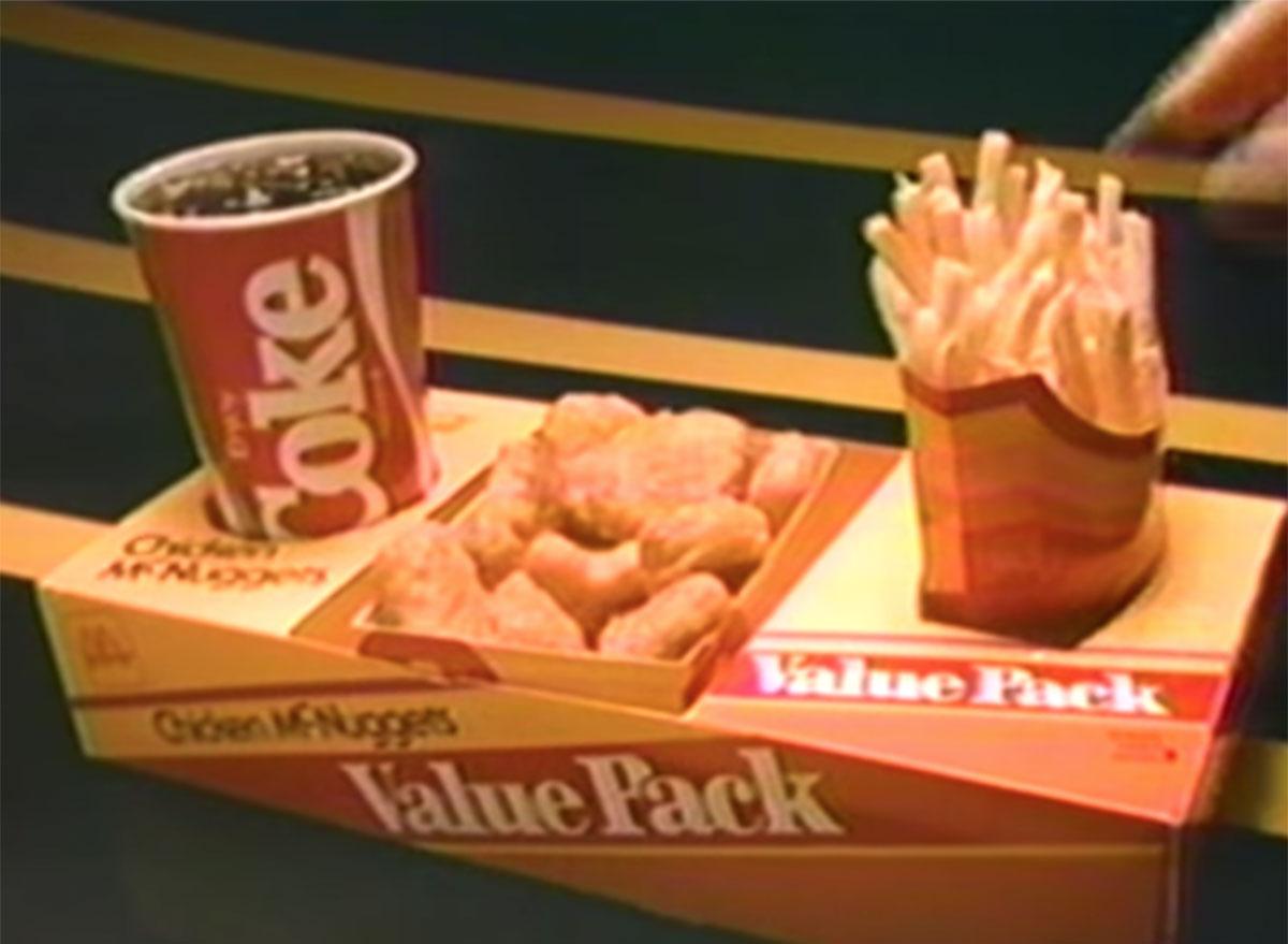 Mcdonalds value pack