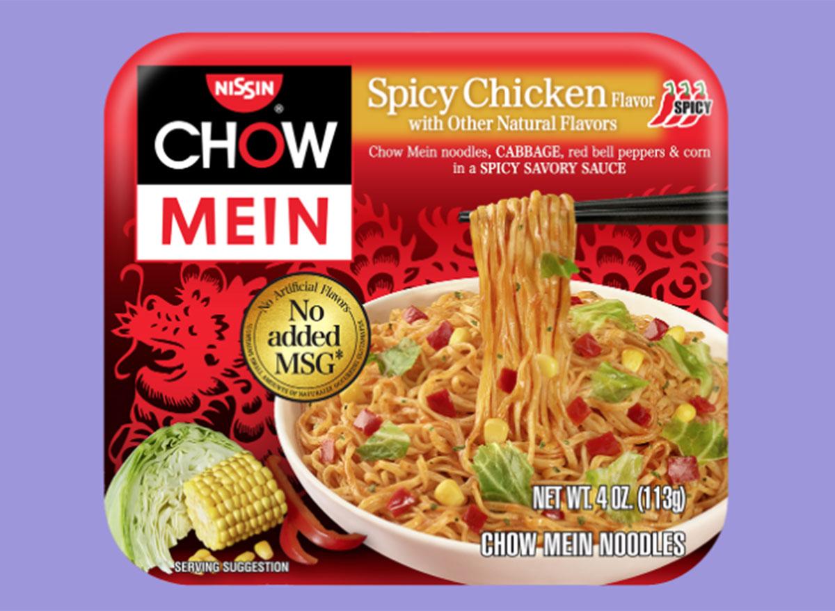 nissin chow mein spicy chicken flavor