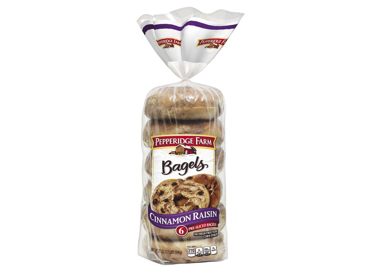 pepperidge farm bagels cinnamon raisin