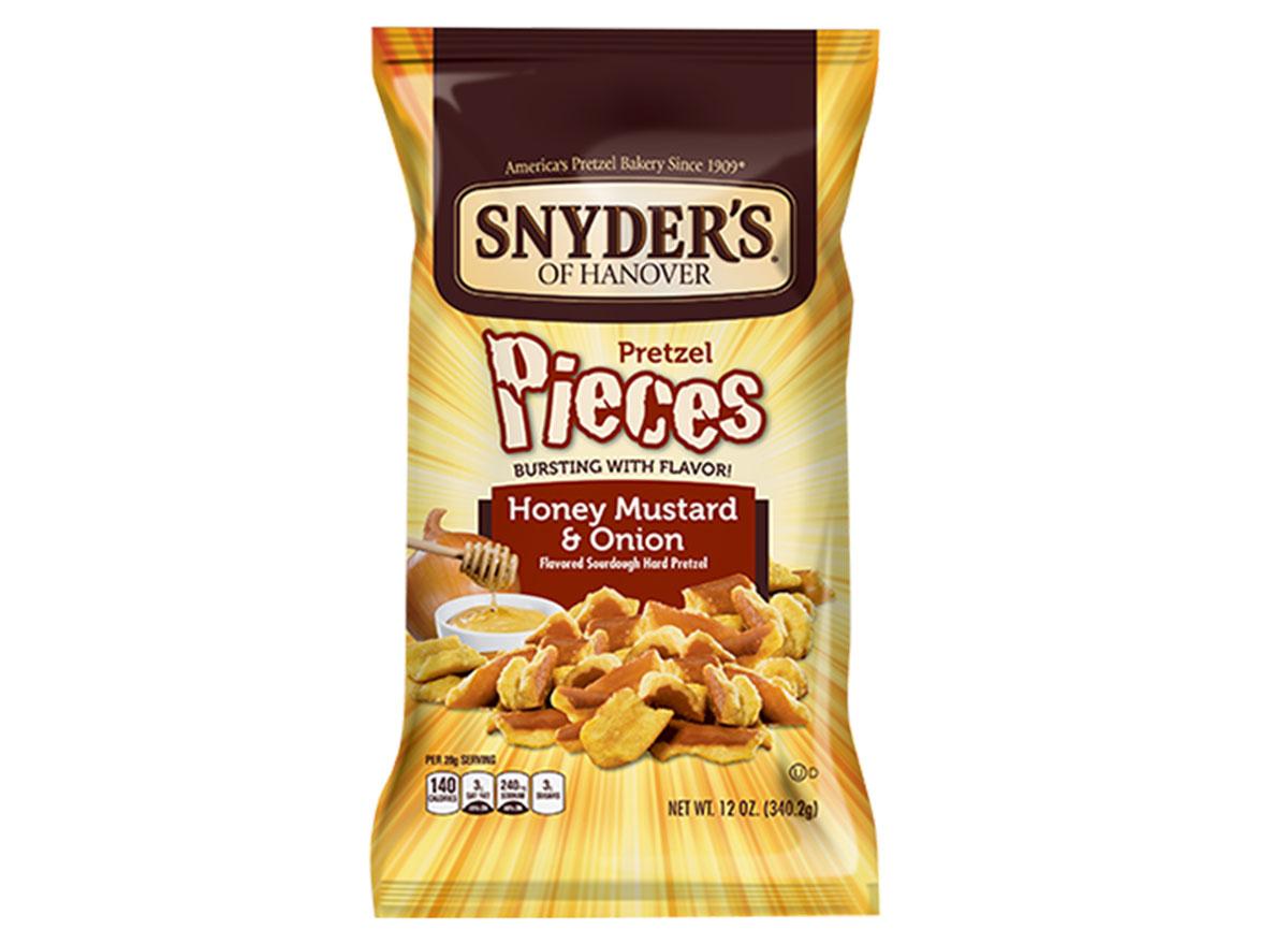 snyders of hanover honey mustard onion pretzel pieces