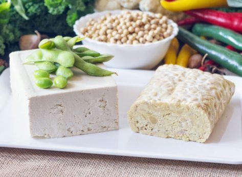 Soy foods edamame tofu tempeh