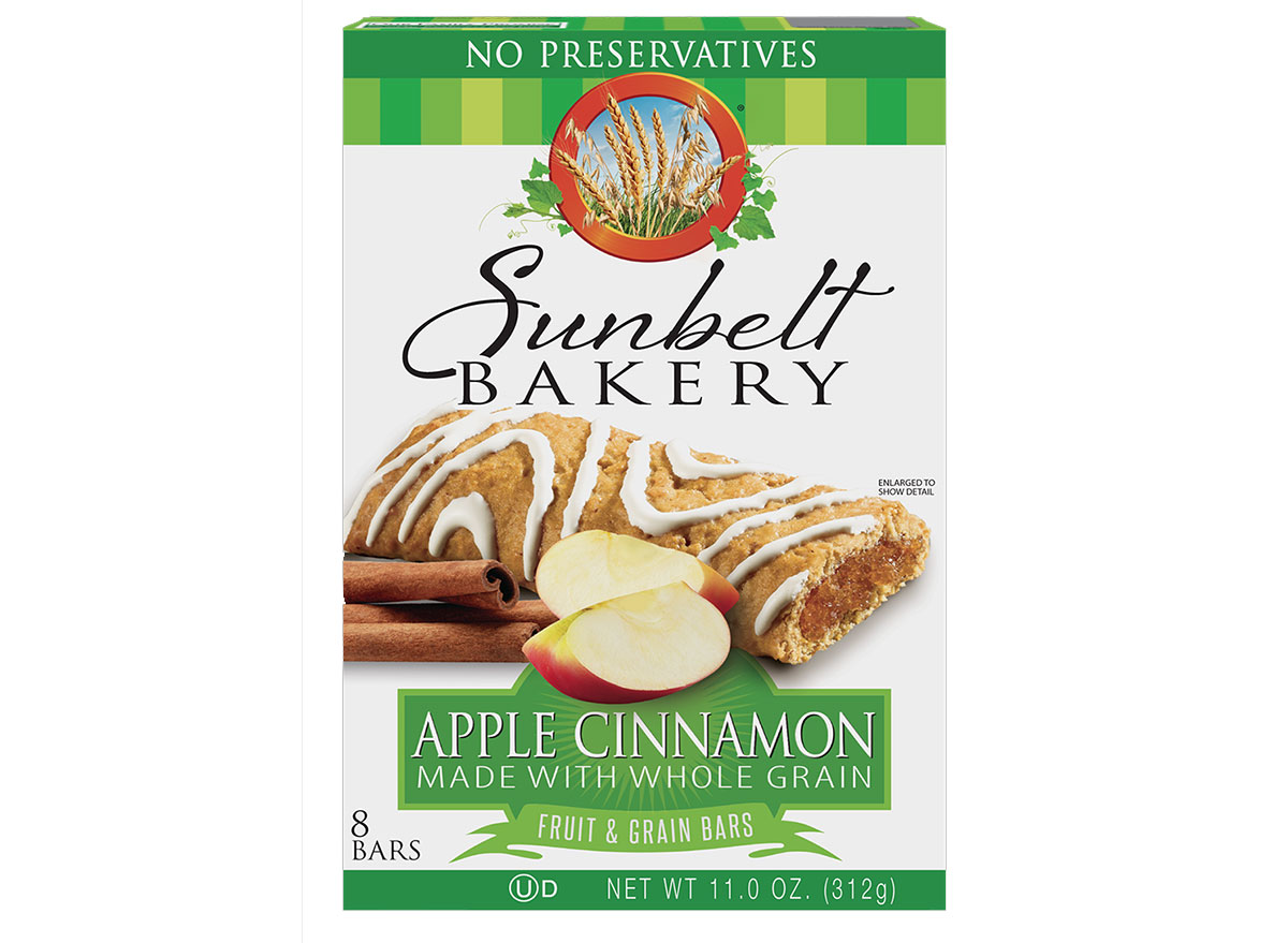 sunbelt fruit grain cereal bars apple cinnamon