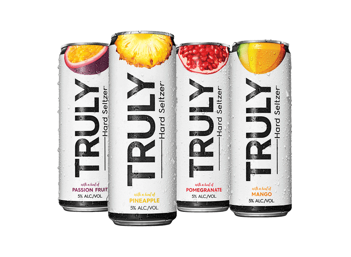 assorted truly hard seltzer cans