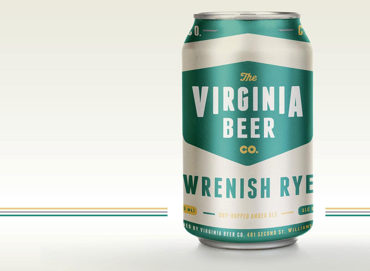 virginia beer co wrenish rye can most popular beer virginia
