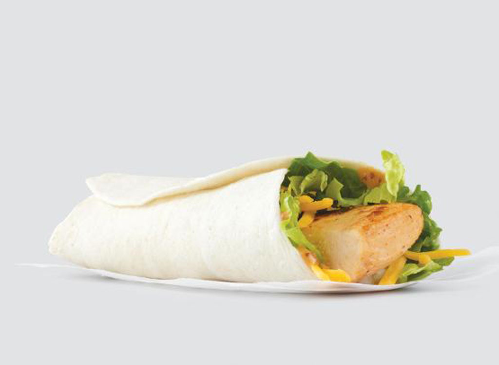 wendy's menu grilled chicken wrap