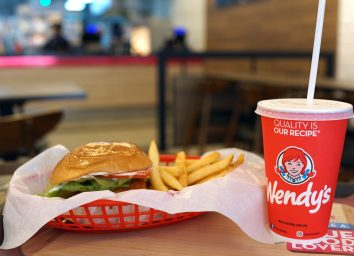 wendys meal burger fries soda