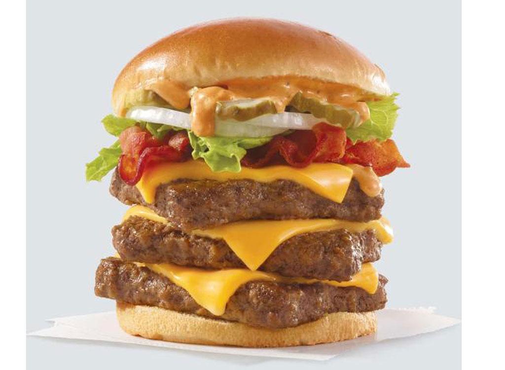 wendy's menu s'awesome burger triple