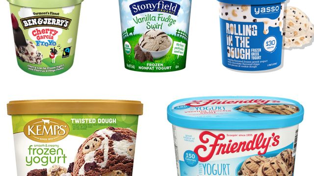 store bought frozen yogurt containers