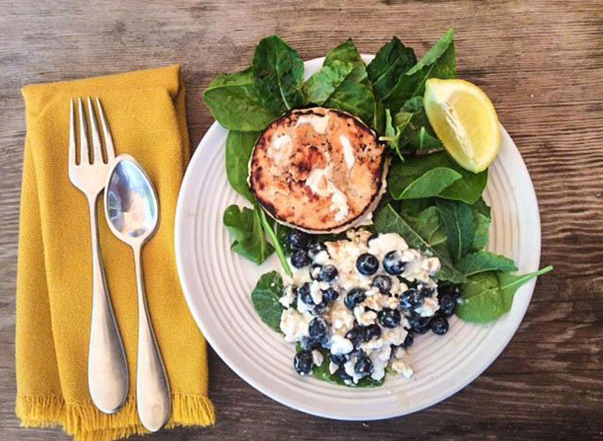 cottage cheese lemon blueberry swirl