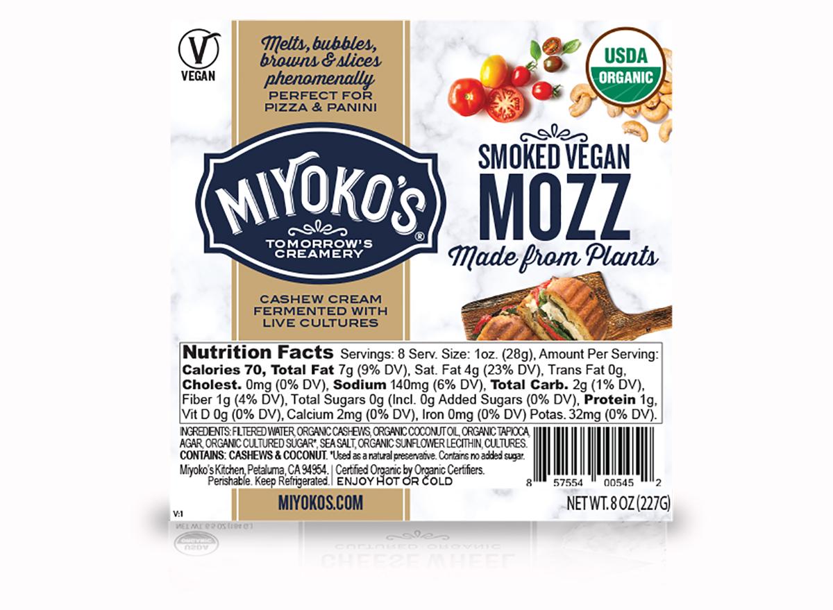 miyoko's smoked vegan mozzarella