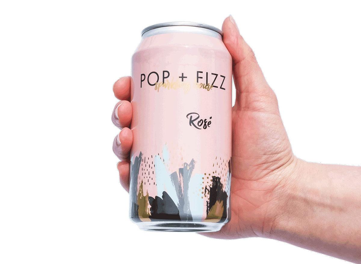 pop fizz rose sparkling house wine