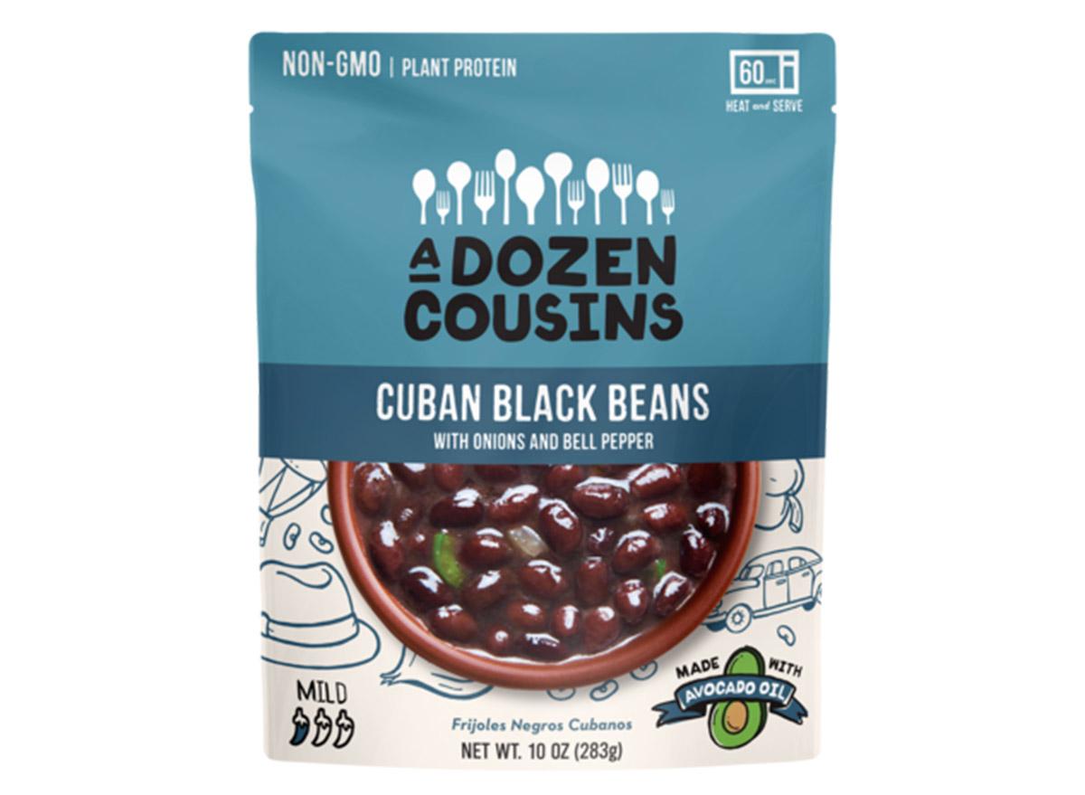 a dozen cousins cuban black beans bag