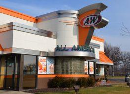 A&W restaurant exterior