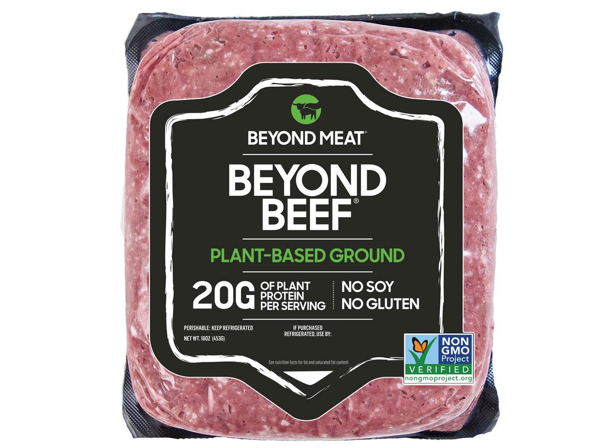 beyond beef ground beef package