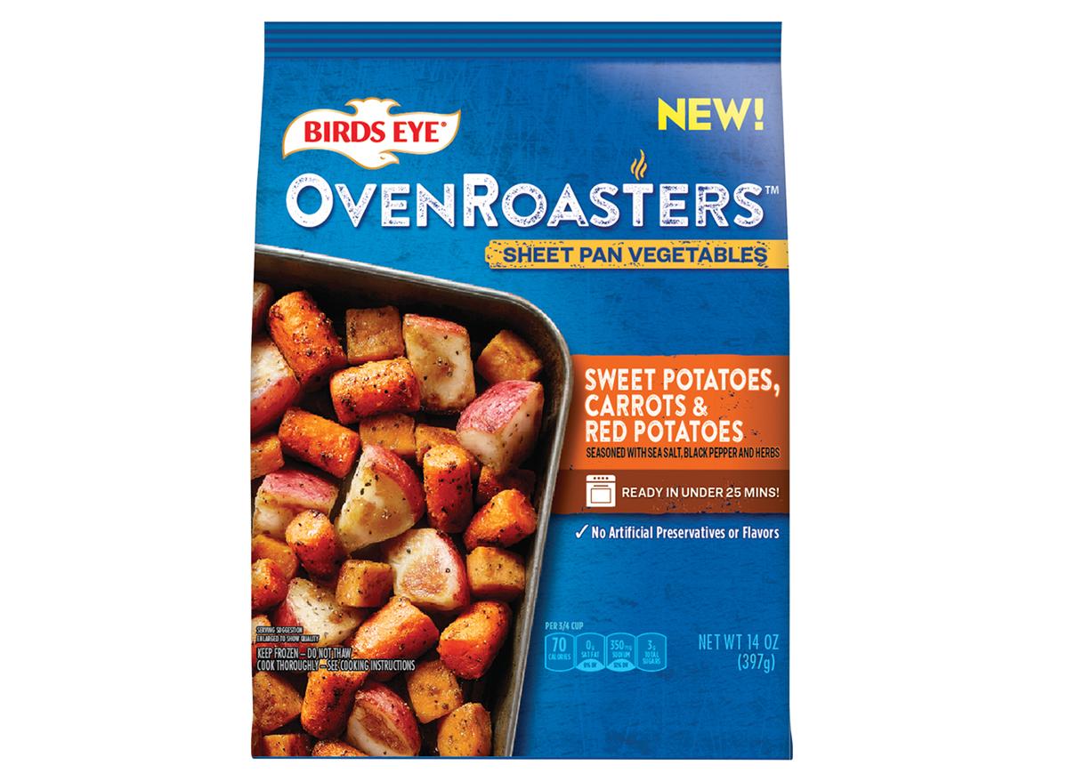 birds eye oven roasters sheet pan vegetables sweet potatoes carrots red potatoes bag