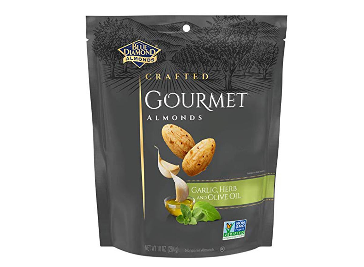 blue diamond gourmet almonds garlic herb olive oil