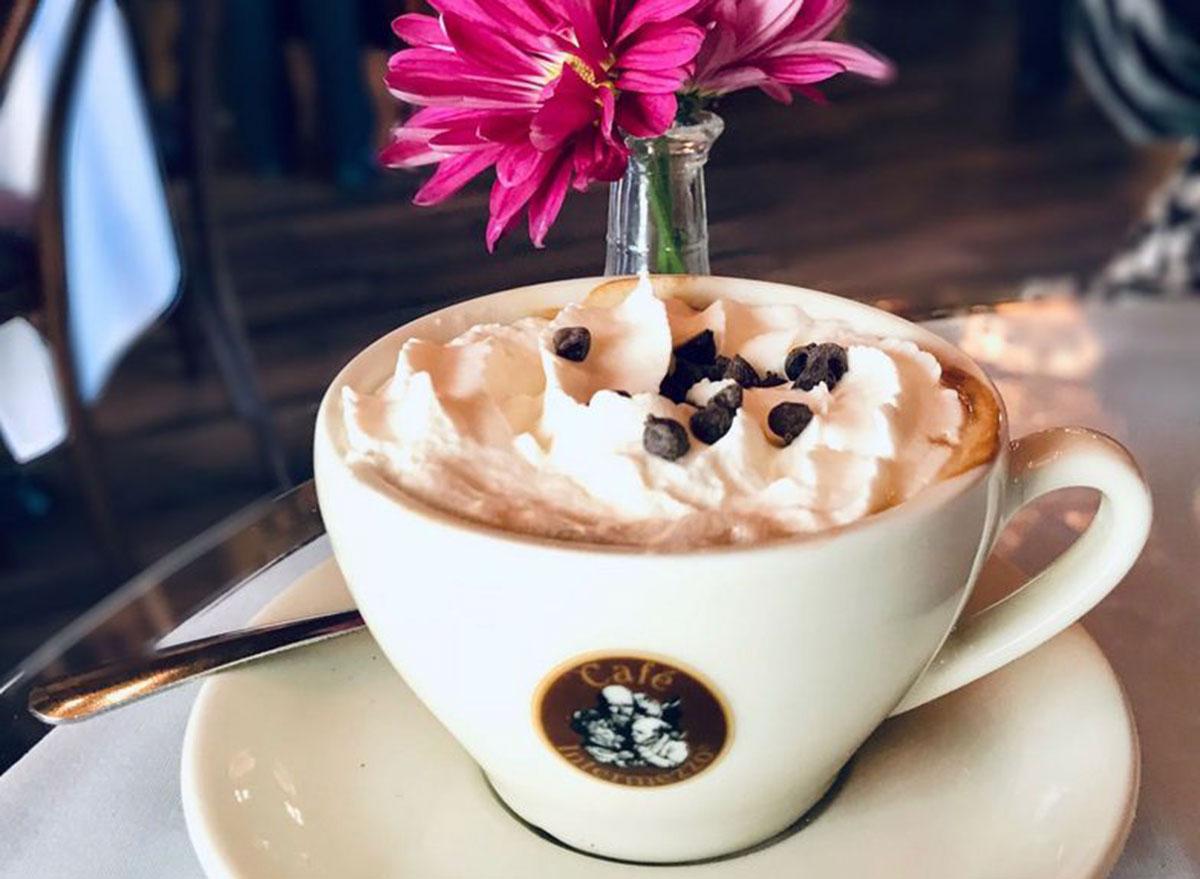 cafe intermezzo hot mocha with swiss chocolate