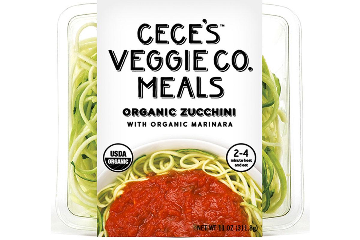 Ceces veggie co meals organic zucchini with organic marinara