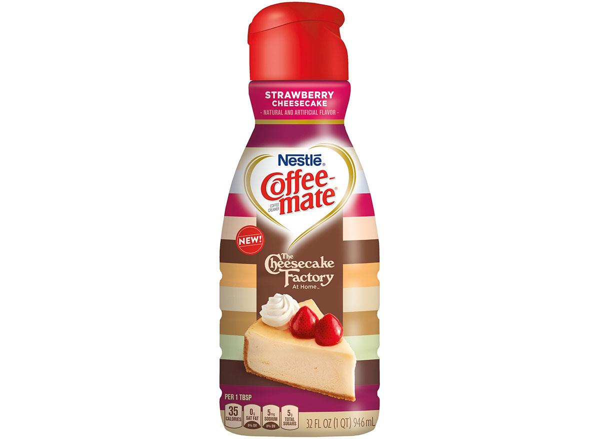 coffee mate cheesecake factory strawberry cheesecake non dairy creamer