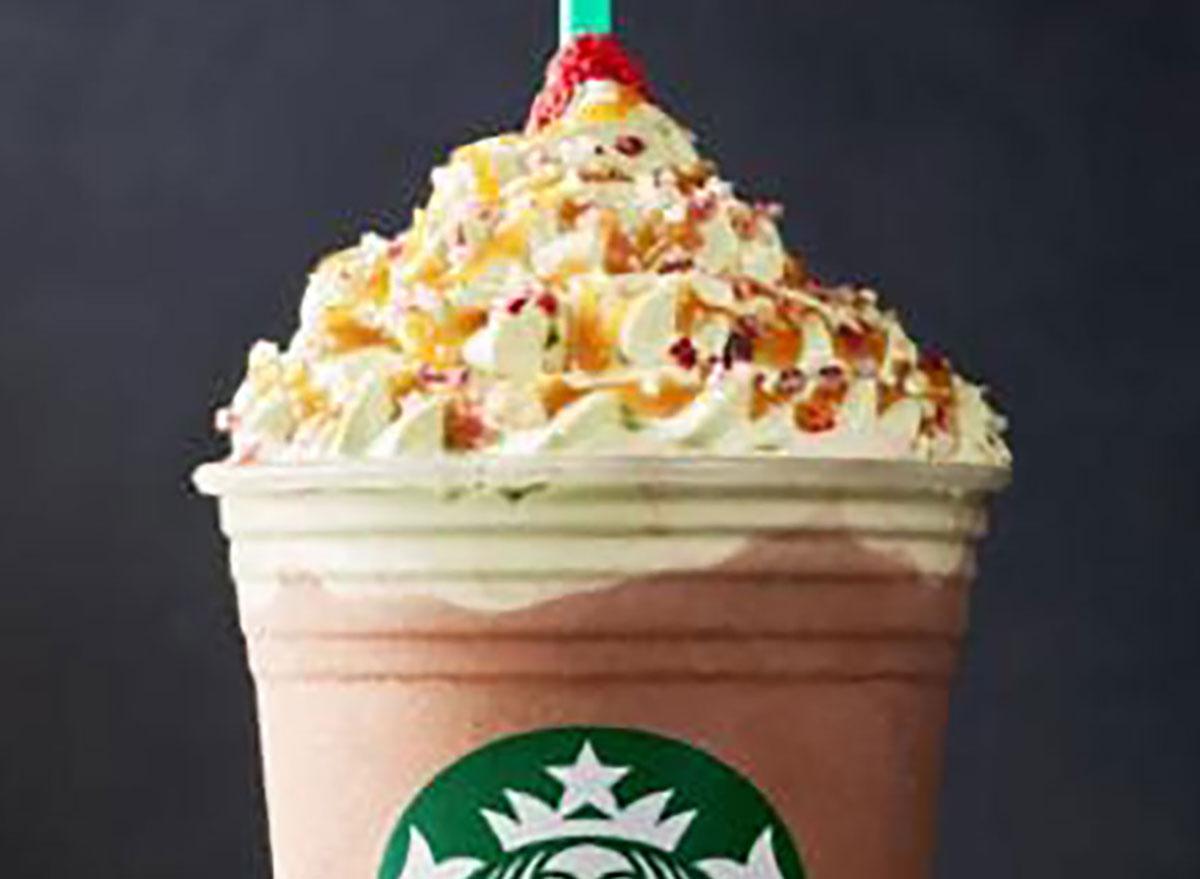 starbucks christmas tree frappuccino
