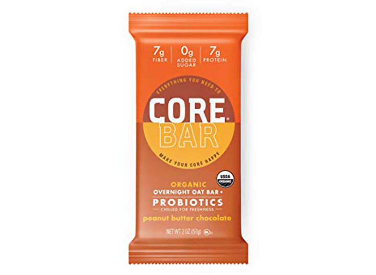 core overnight oatmeal bar peanut butter chocolate flavor